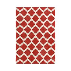 Alfombra-DECORA---Conga-160-x-230cm-color-Beige-Rojo-diseño-cuadros-Balta-1-5125