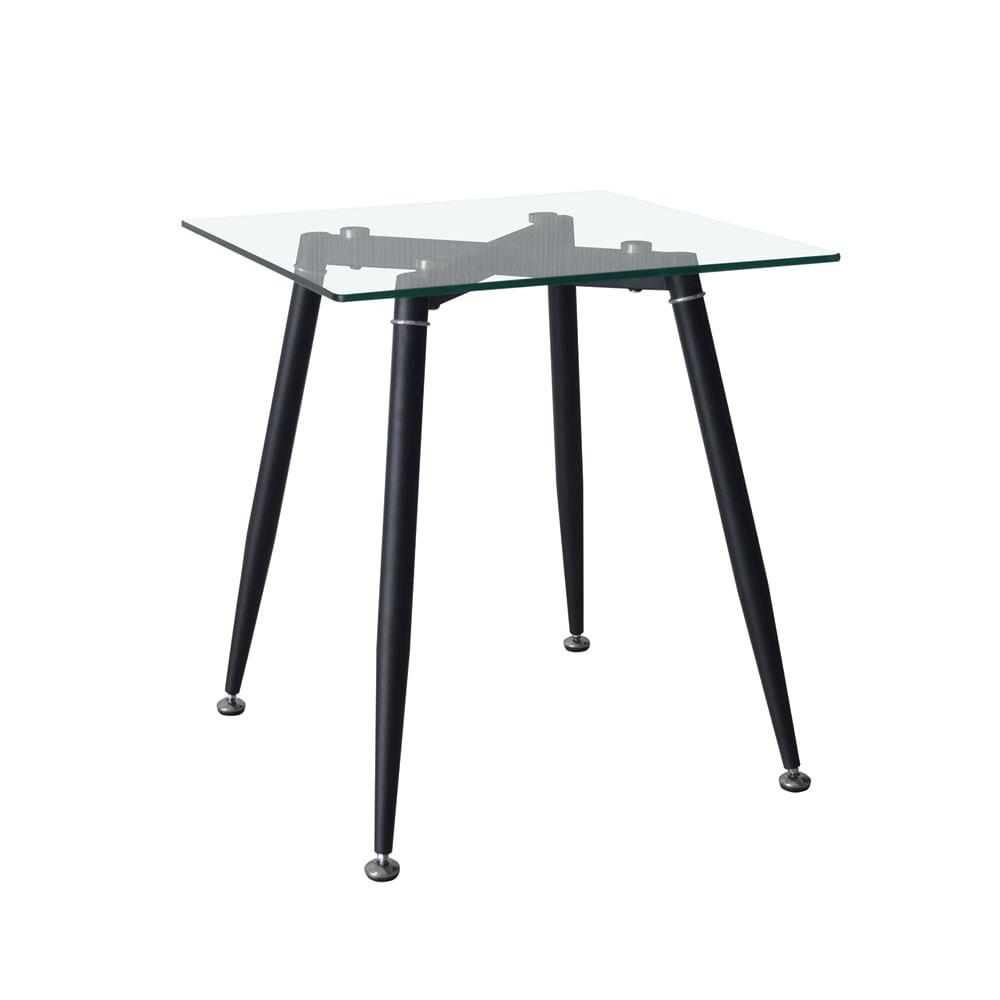 Mesa auxiliar maarten de cristal transparente impulse - Mesa auxiliar cristal curvado ...