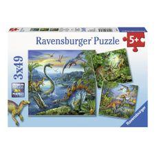 Rompecabezas-3x49-fascinacion-dinosaurios-Ravensburger