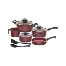 Juego-bateria-de-cocina-10-piezas-Paris-granito-rojo-Tramontina-Cutelaria