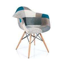 Silla-poltrona-patas-de-madera-color-Azul-y-Gris--EAMES-Harmony--1-2437