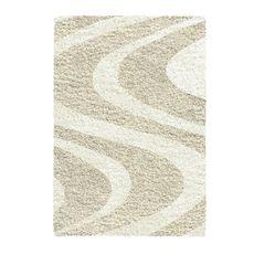 Afombra-Sapphire-Shaggy-ondas-beige-Balta-1-2901