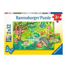 Rompecabezas-visitantes-del-jardin-2x12PZAS-Ravensburger-1-13604