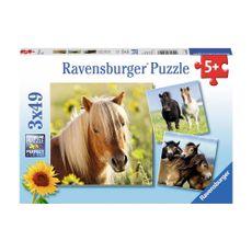 Rompecabezas-Queridos-Caballos-3X49PZAS-Ravensburger-1-13596