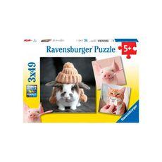 Rompecabezas-Retratos-divertidos-de-animales-3X49PZAS-Ravensburger-1-13748
