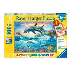 Rompecabezas-Delfines-Vibrantes-100PZAS-LIBRO-PARA-PINTAR-Ravensburger-1-13754