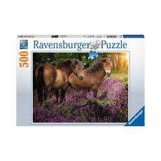 Puzzle-Ponis-en-las-Flores-500pz-14813-Ravensburger-1-15613
