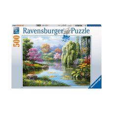 Puzzle-Vista-Romantica-del-Estanque-500pz-14827-Ravensburger-1-15615