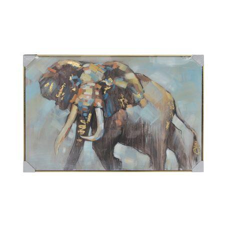 Cuadro elefante con marco 120x80x3.5cm - multicenter
