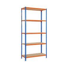 Estante-metal-Azul-Naranja-bandeja-madera-1-26398